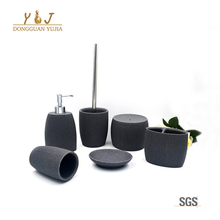 Cheap Price Modern Design Style Polystone 6Pcs Design Bathroom Accessories Set Supplies For Home