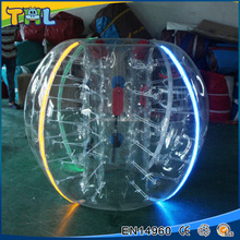 Factory inflatable LED bumper ball led light human inflatable buddy bumper bubble ball for adults inflatable human bumper ball