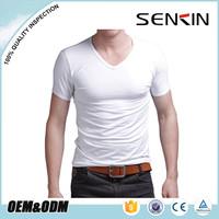Cheap in bulk tagless wholesale white blank plain t-shirts 100% cotton t shirt for men