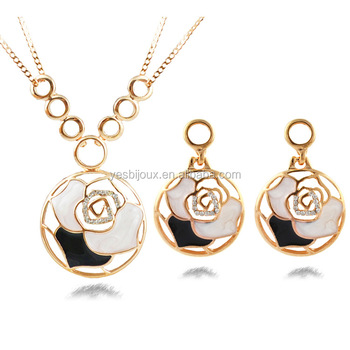Rose Flower Jewelry Set Saudi Arabia Jewellery Gold Filled Buy