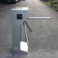 980mm standing automatic rfid card reader security tripod turnstile gate