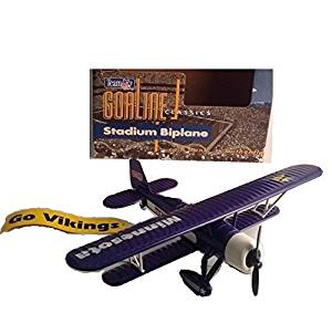 Minnesota Vikings NFL Diecast Goaline Classics Stadium Biplane Coin Bank