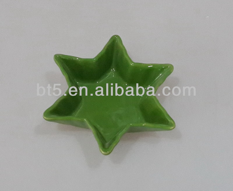 High quality ceramic star shaped kids plate for sale