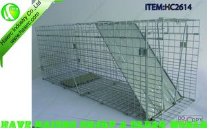 Foldable cat/dog/rodent trap cage HC2614-S2