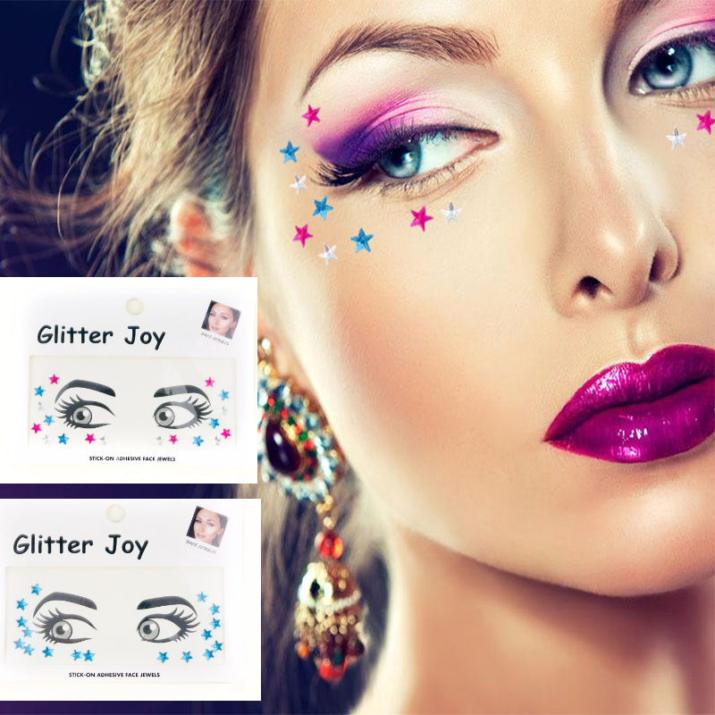 Face Gem Stickers,Temporary Feature and Tattoo Sticker Type face gems