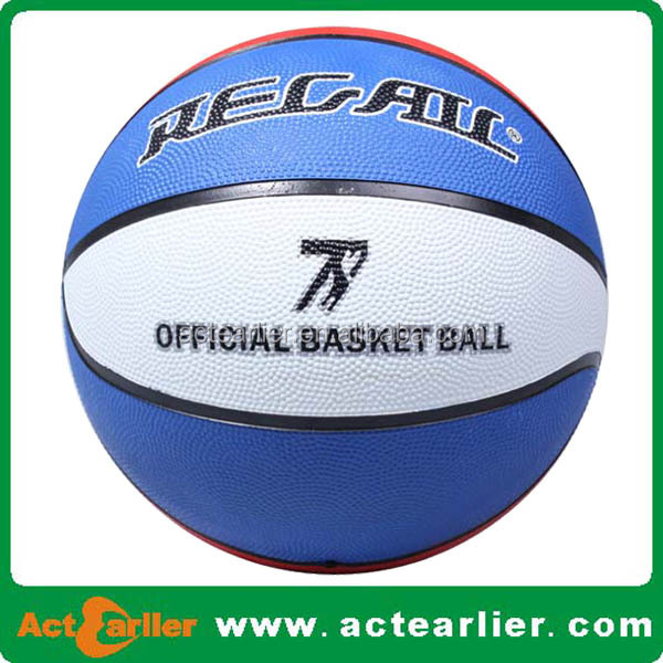 size 7 size 5 custom promotional rubber basketball balls