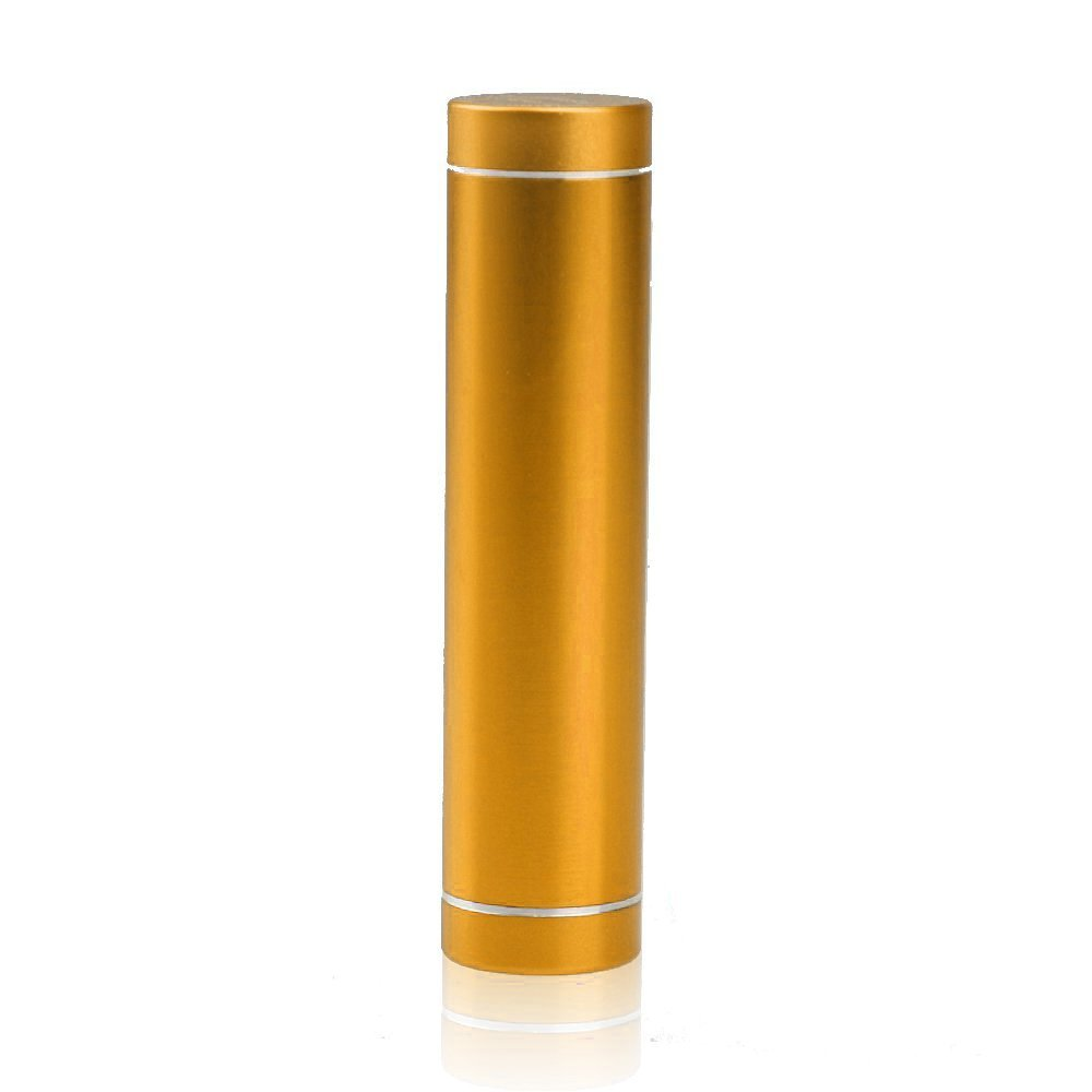 """ELENKER™ Mini 2600mah External Battery Pack Compact """"Lipstick"""" Size USB Universal Portable Power Bank Charger for Iphone 6 5S 5 4s 4, Ipod Touch, Samsung Galaxy S5 S4 S3 Mini i8190, Galaxy Nexus, Galaxy Note 3 2, HTC One M7 M8, Nexus 4 LG G3 (Champagne)"""