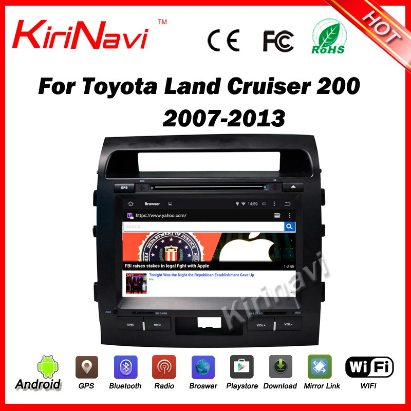 "Kirinavi WC-TL9006 9"" android 5.1 2 din car stereo radio multimedia for toyota land cruiser 200 2007-2013 car cd player 16G ROM"