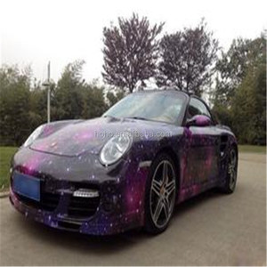 Automobile decoration beauty sticker 1.52*30m car body starry sky wrap vinyl