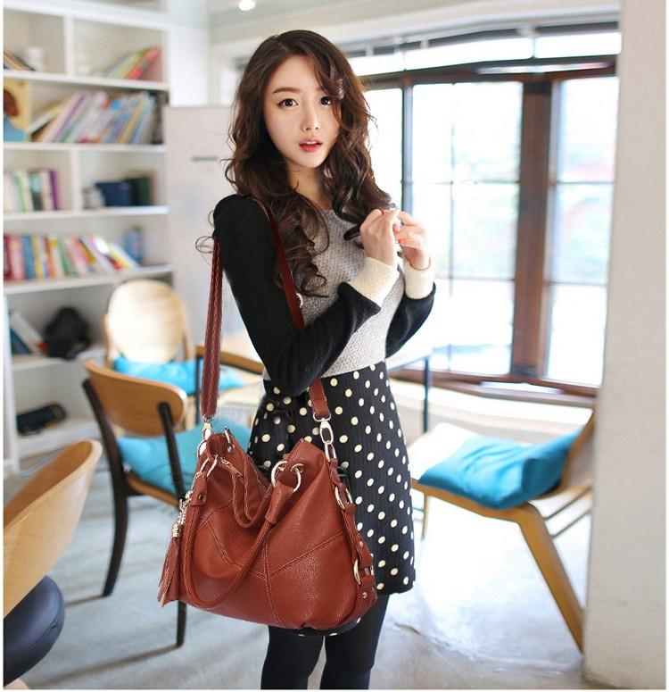 Fashion Handbags Women <b>Large Capacity Casual Bag</b> Ladies PU ...