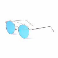 Metal sunglasses brand designer mirror sunglasses cat 3 uv400 sunglasses