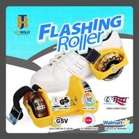 3 led lights roller wheels , two wheels on heels removable rollers flashing roller skate for children (EN71 & EN13843)
