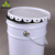 printed 30L round tin bucket with iron handle and flower lid