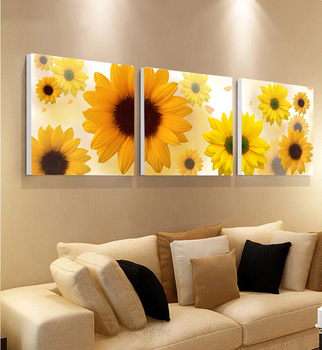 Living Room Decoration Simple Abstract Printed Sunflower Oil Painting Part 76