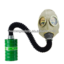 Rubber gas mask helmet for oxygen breathing respirator for sale