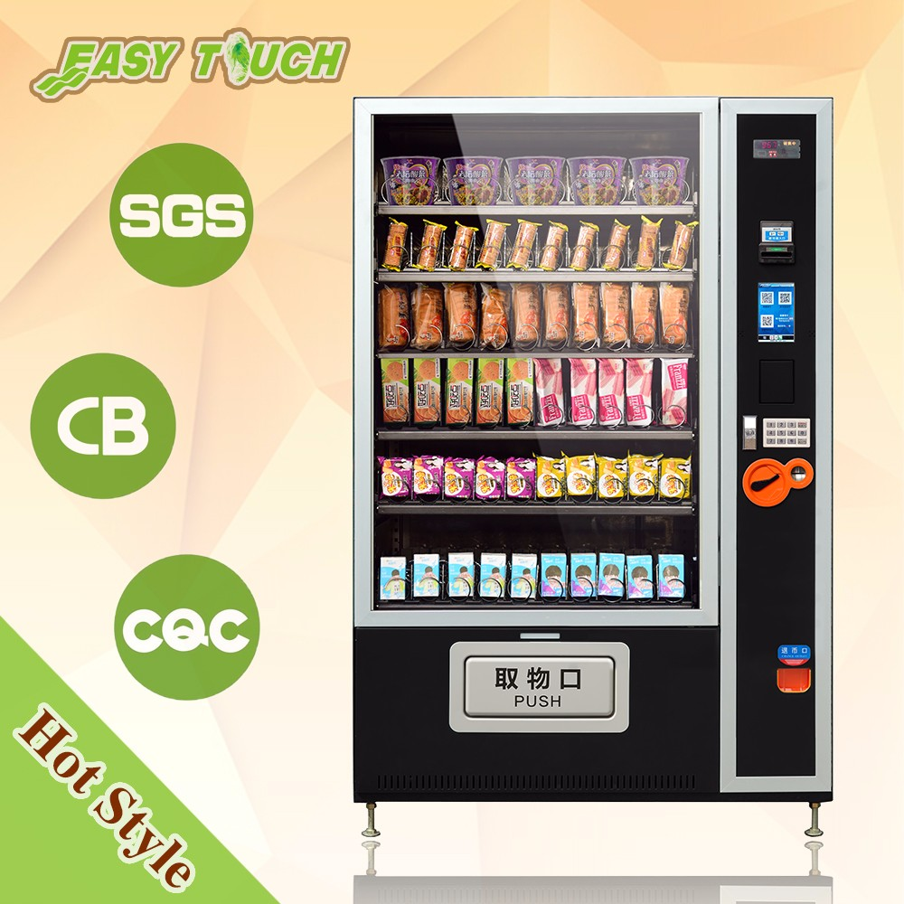 Lift Salad Soup Fast Food Vending Machine With screen