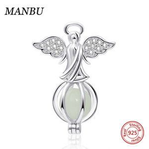 luminous angel charms fit for pandora charms bracelet 925 sterling silver JF9066-P