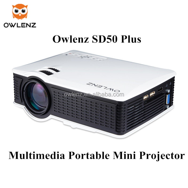 customized mini projector SD50 Plus multimedia Projector AV/VGA/USB/SD