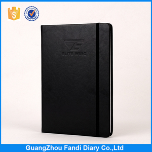 high quality security officers pu leather a5 notebook 2017