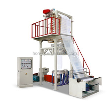 High Output Polyethylene (HDPE - LDPE) Blown Film Extrusion Machine Line to Produce Plastic Bag or Sheet Film