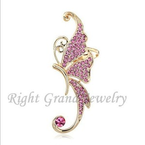 Pink Rhinestone Ear Cuff Earring Jewelry 2015 Hot Ear Cuff Wholesale