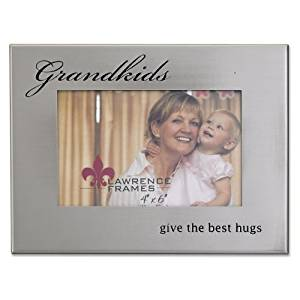 Lawrence Frames Brushed Silver Metal 4 by 6, Grandkids Picture Frame by Lawrence Frames