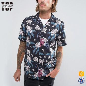 47c2fa76031 Spring summer hawaiian shirts wholesale printed men new style viscose  flower shirt