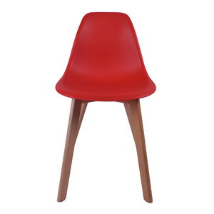 Cheap colorful classic tulip wooden leg dining chair