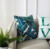 High quality love pattern latest design custom green tropic leaf throw pillow cover for sofa home bed decor