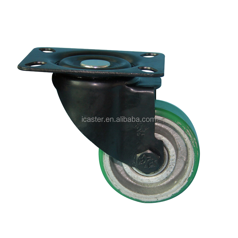 Good Quality 3 inch PU Swivel Caster Wheels Industrial for Luggage Cart Trolley