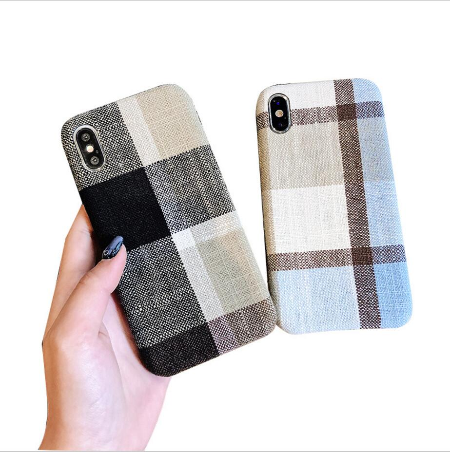 best sneakers c4d92 53706 Cloth Fabric Case Winter Plaid Phone Cases Back Cover Business Capa Conque  For Iphone X Xr Xs Max 8 7 6 Plus - Buy Winter Phone Case,Cloth Phone ...