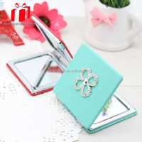 Small Round Pu Compact Craft Mirror