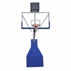 Deluxe electric hydraulic basketball hoop/stand with basketball rim
