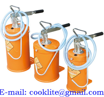 Gear Oil Bucket With Hand Lever Pump Manul Oil Dispenser - Buy Grease Pump  Greaser Oil Lubrication Lubricator Lubricant Gear Lube Dispenser Filling