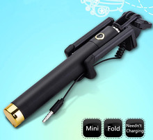 Universal Luxury mini Selfie Stick Monopod for Iphone samsung Android IOS Wired Palo Selfie Groove Camera Para