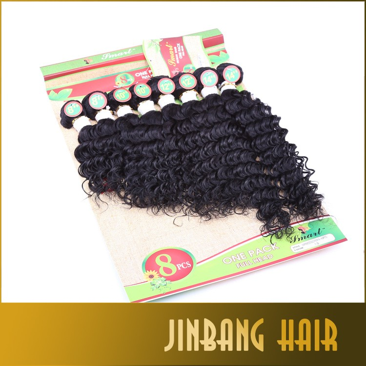 Wholesale 7A human and synthetic hair mixed tangle and shed free,tangle free no shed hair weaving
