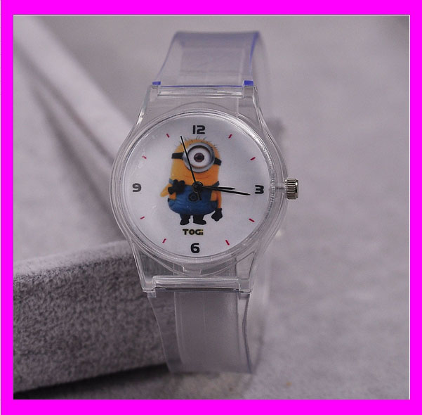 JC0138 Interesting transparent Minions anime watch wholesale