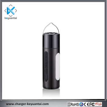 Small Speaker Flashlight Promotion Gift Rechargeable High Quality Power Bank 2600mah