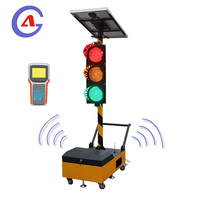 Solar wireless movable portable traffic signal light using on temporary road repairing