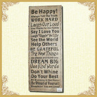 Country Antique Wood Wall Plaques with Good Saying(YF1078)