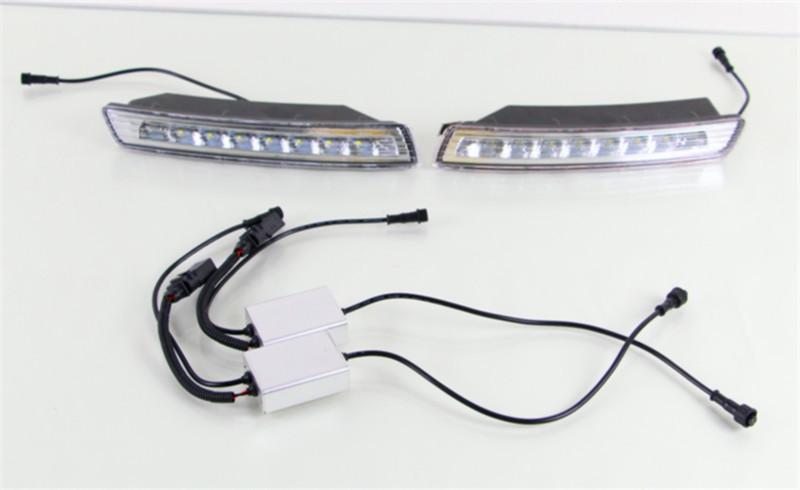 Автоаксессуары для фольксваген жук 2007 ~ 2010 из светодиодов DRL дневные ходовые огни с поворотом световой сигнал