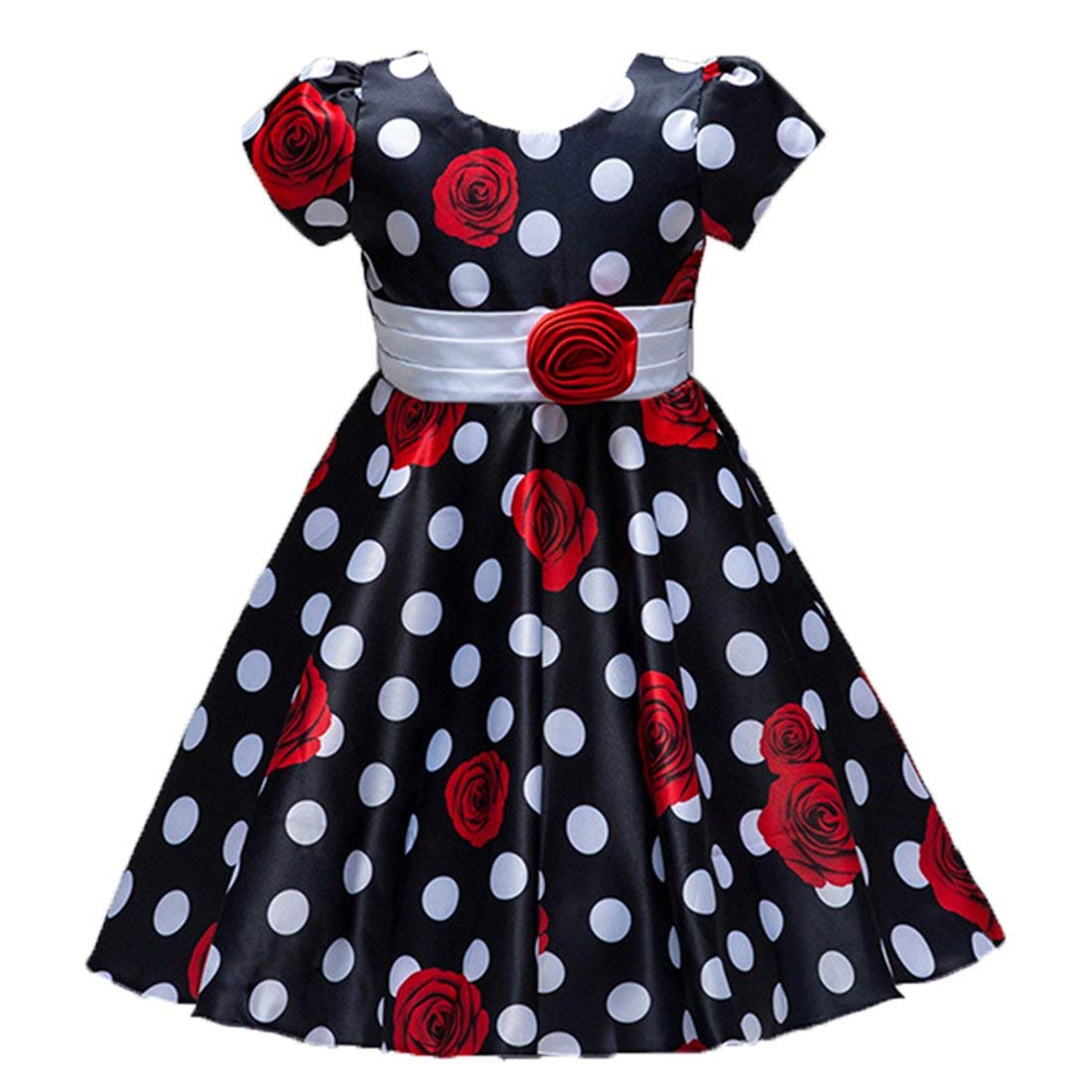 6014ed62cf9 Get Quotations · ADHS Big Girl Flower Wedding Party Prom Gowns Special  Occasion Polka Dot Dress