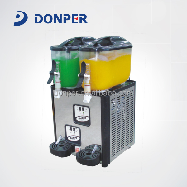 Donper Double Bowl 6Lx2 Mini Slush Machine XC212 für Daiquiri, Cocktail, Margarita