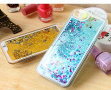 Glitter Stars Dynamic Liquid Quicksand Hard Case Cover For iPhone 7 iPhone 6 6S Back Cover Transparent Clear Phone Case