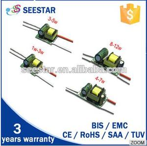 SEESTAR wholesale mini size 3w 5w 7w 8w 9w internal 300mA ac to dc 18v led bulb light driver
