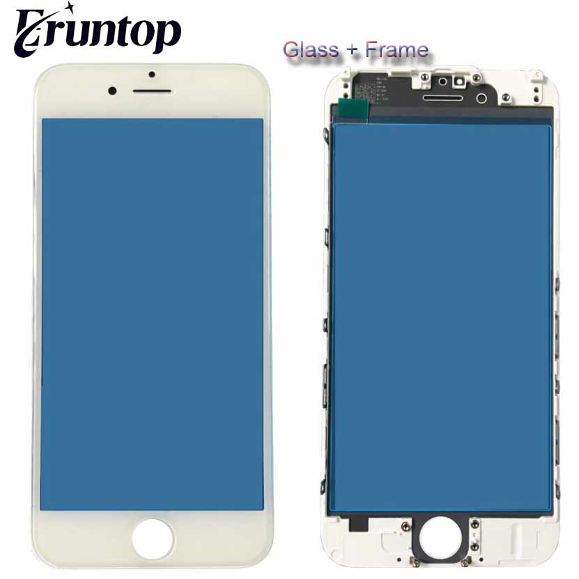 High Quality for iPhone 5s 6 6s 6Plus 7 A+ LCD Front Touch Screen Glass Outer Lens with Frame Bezel