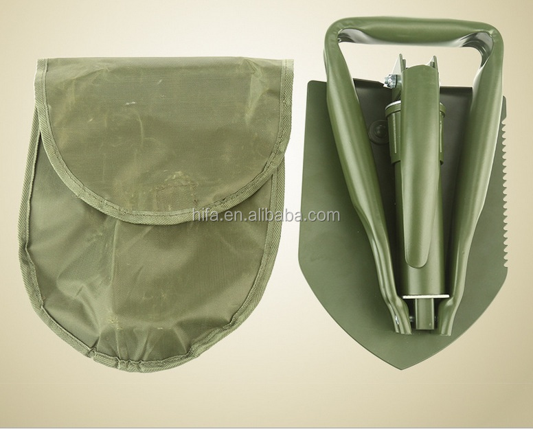 Mini Multi-function Folding Camping Shovel Survival Trowel Dibble Pick Outdoor tool Wholesale