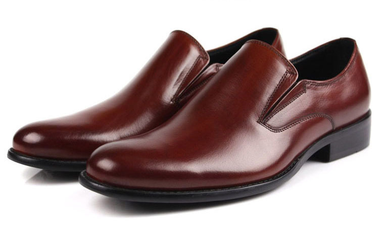 2015 Italian fashion casual style genuine leather men dress shoes men brown red casual dress shoes mens shoes oxfords size:38-44