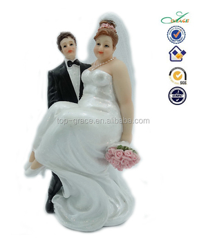 Fat Bride And Groom Cake Toppers