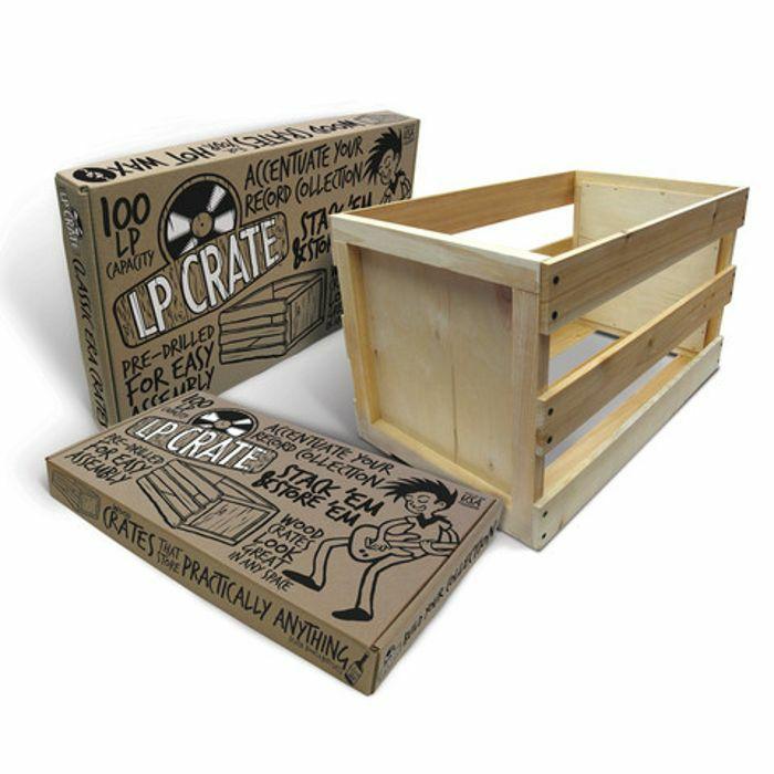 Vinyl Record Wood Crate Album Storagerecord Holder Wood Crate